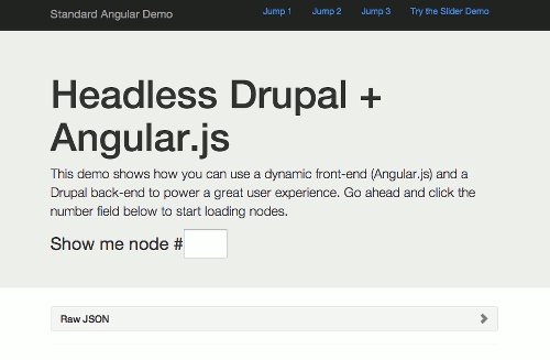 Thumbnail for Headless Drupal Demo - Working Code and Call to Action